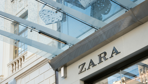 Zara exterior wall decal