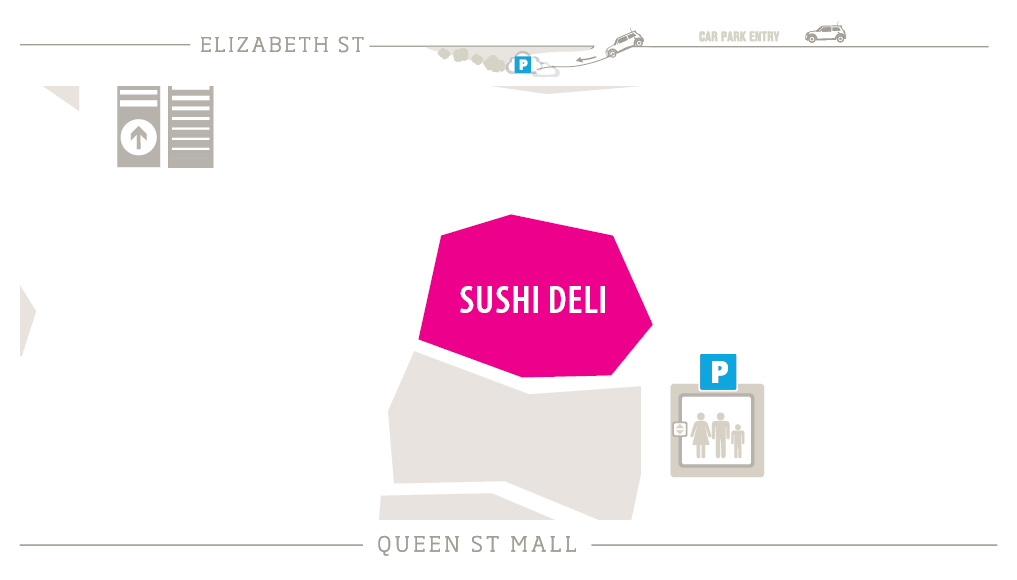 Sushi Deli Zoomed in Map