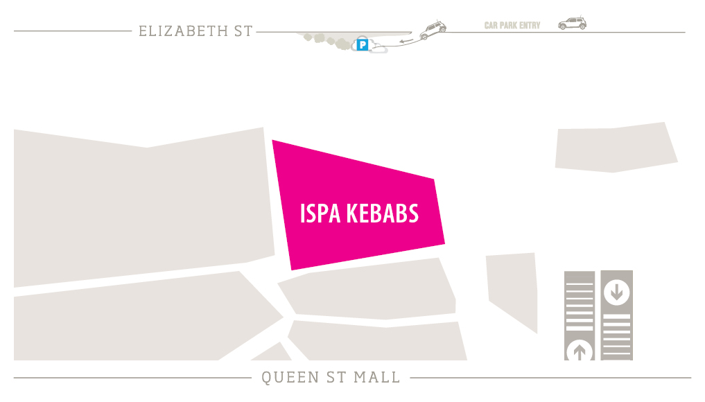 ISPA Kebabs Zoomed in Map