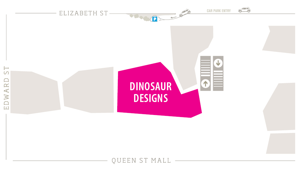 Dinosaur Designs Zoomed in Map