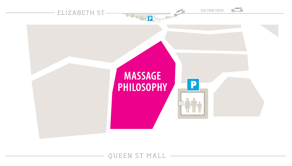 Massage Philosophy Zoomed in Map