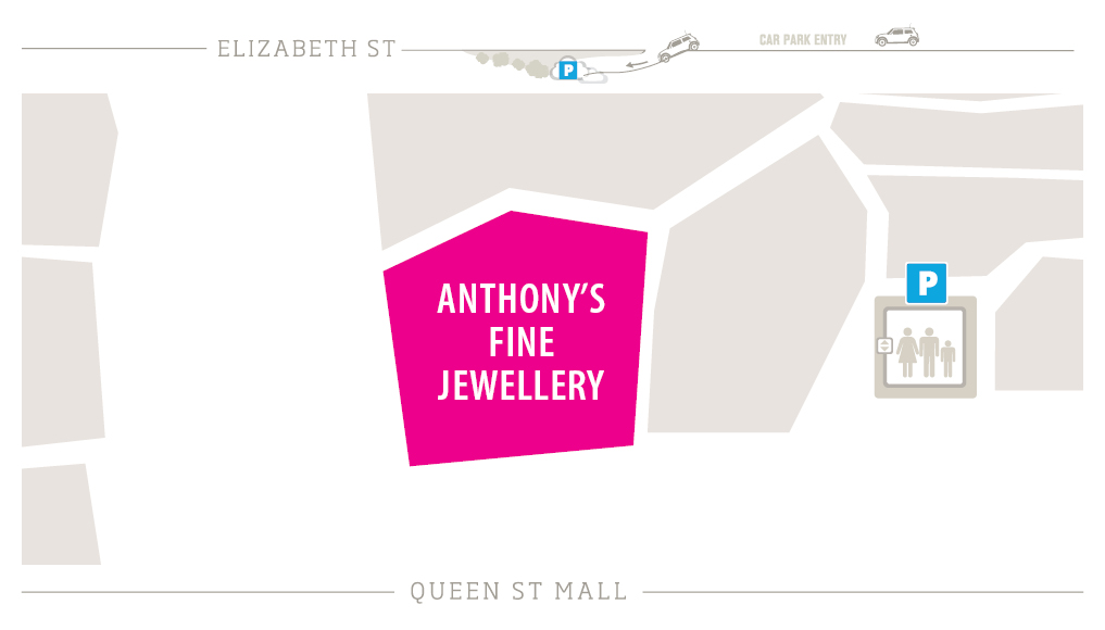 Anthony's Fine Jewellery Zoomed In Map