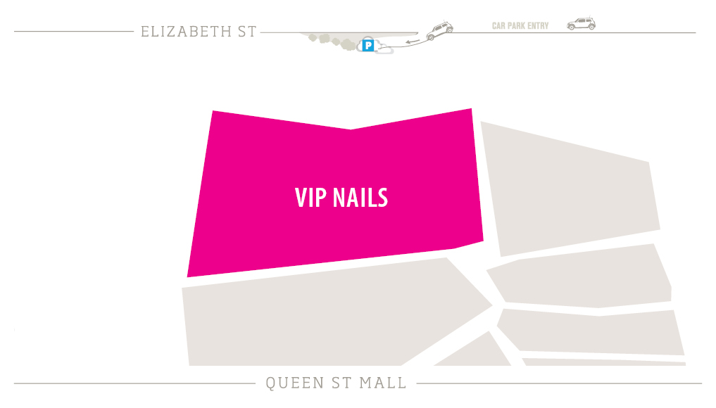VIP Nails Zoomed in Map