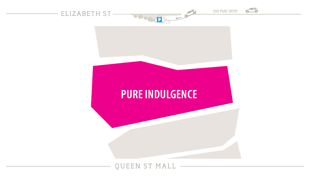 Pure Indulgence Zoomed in Map