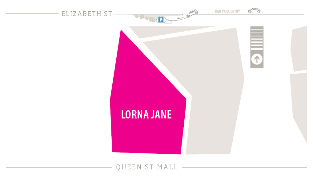 Lorna Jane Zoomed in Map