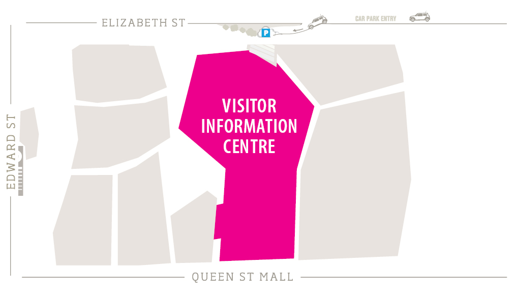 Visitor Information Centre Zoomed in Map