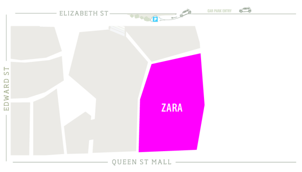 Zara Zoomed in Map